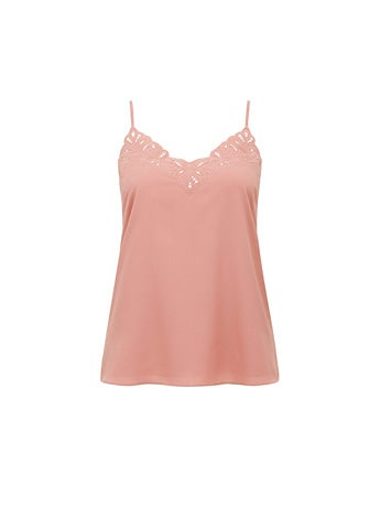 Rose Embroidered Cutwork Camisole