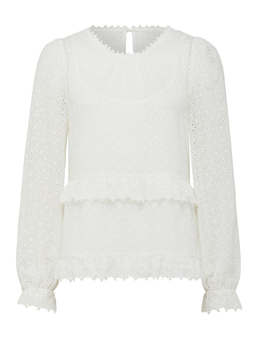 Elise Embroidered Shell Top