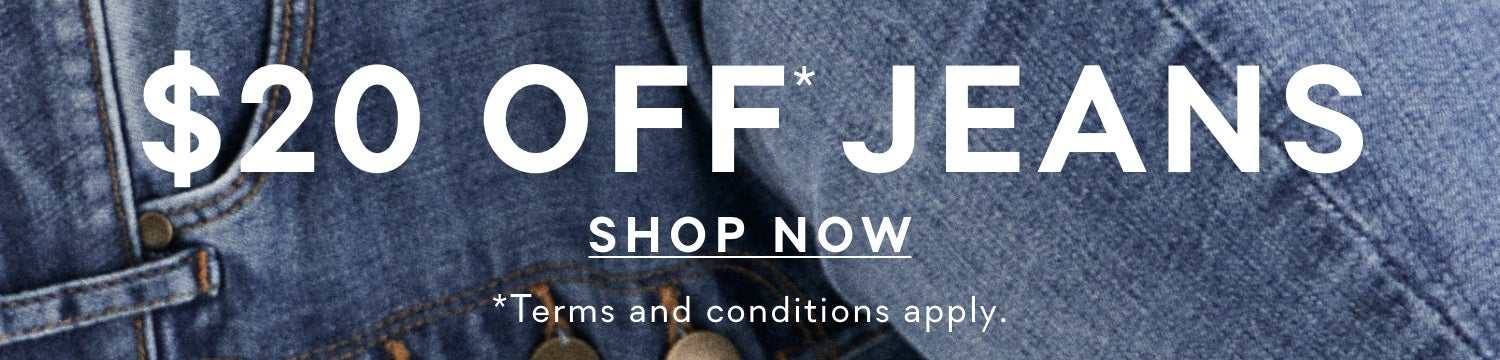 $20 off Jeans