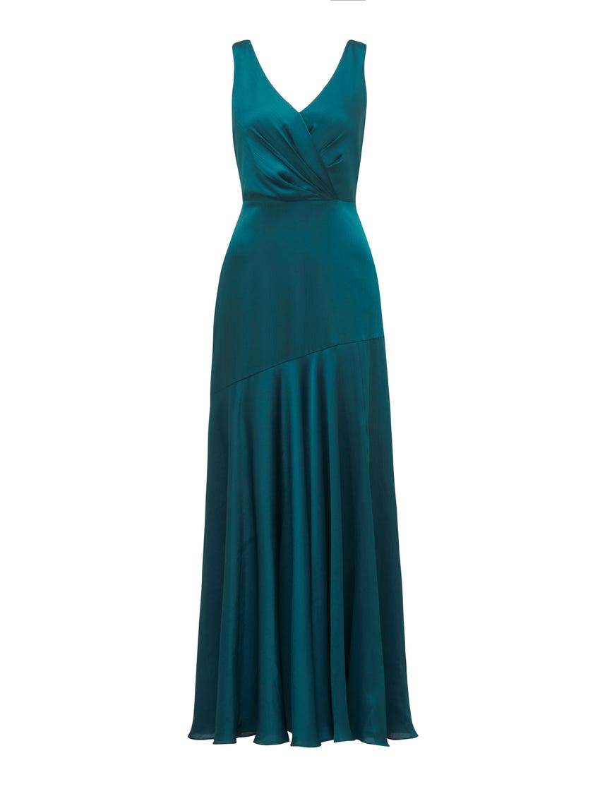 Marcella Satin Maxi Dress