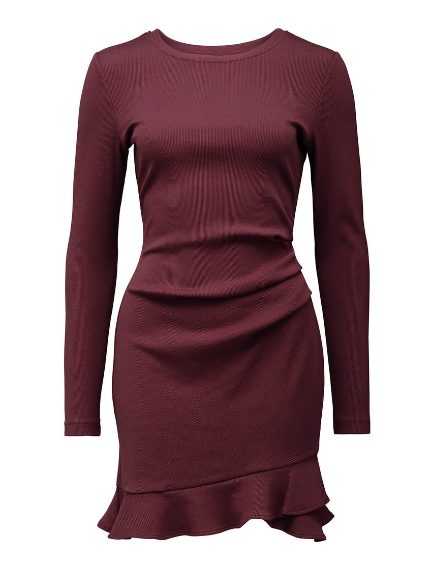 Annie Rib Long-Sleeve Rib Dress