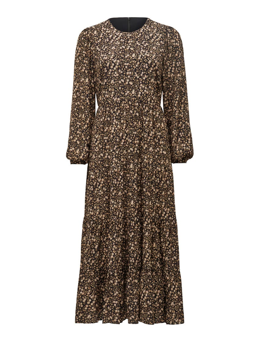 Betty Long-Sleeve Midi Dress