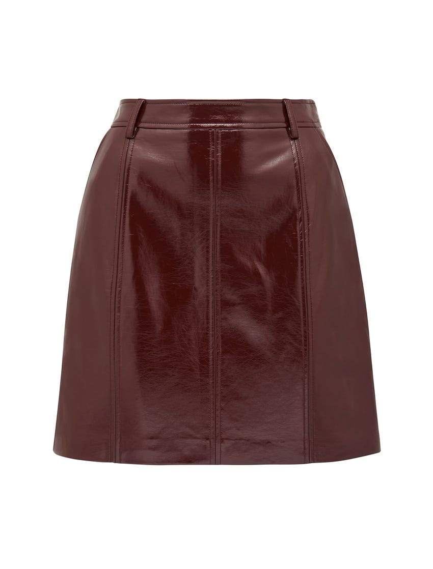 Frankie High-Shine Vegan Leather Mini Skirt