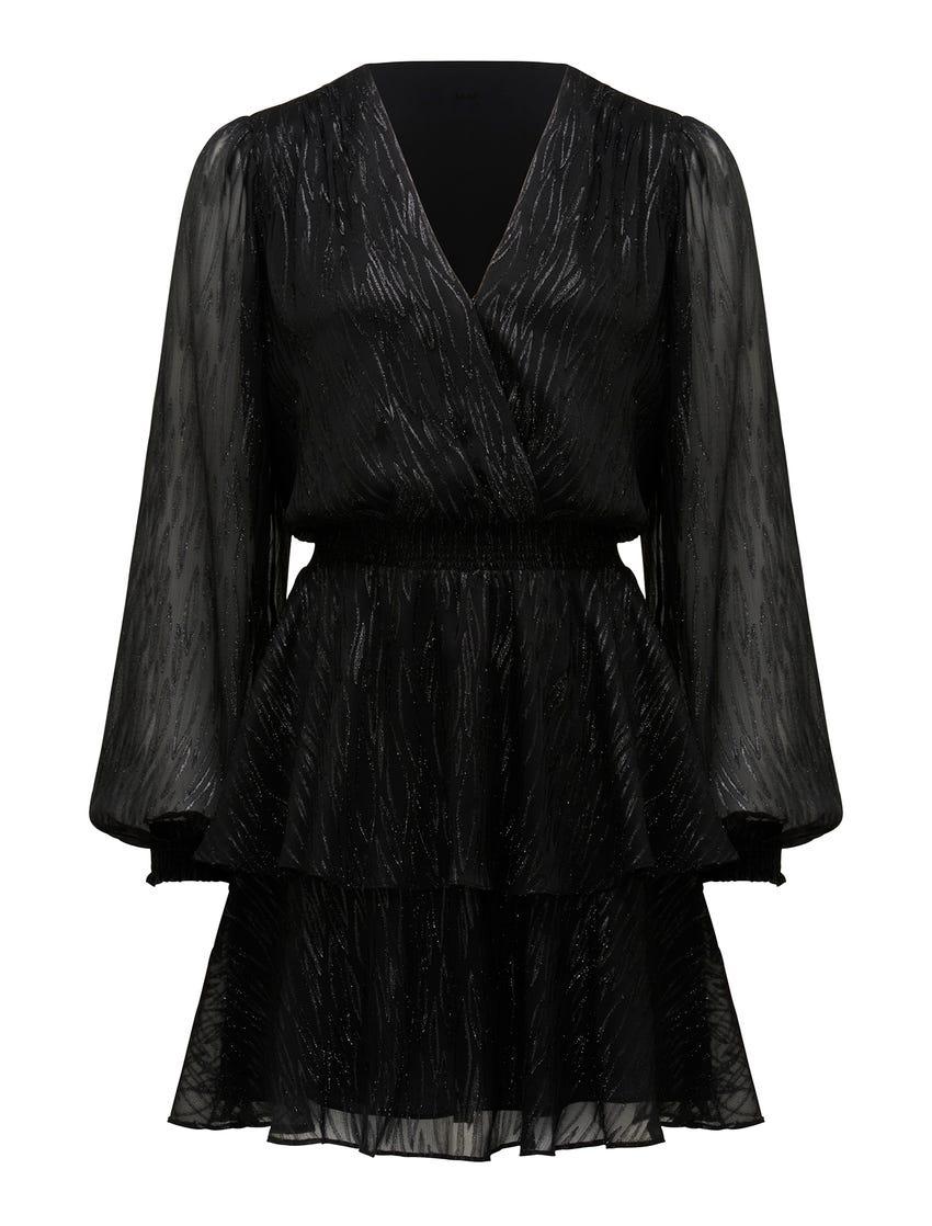 Keira Long Sleeve Metallic Dress