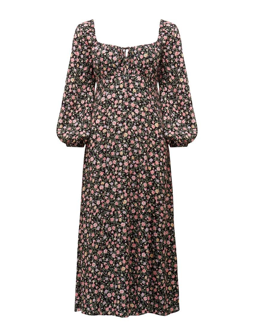 Lydia Long-Sleeve Midi Dress