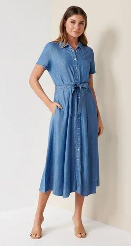 Joni Denim Midi Dress