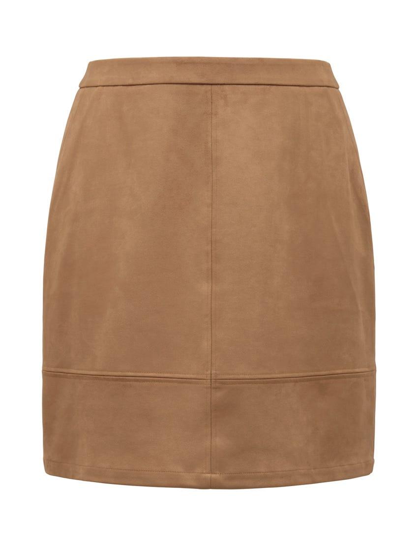 Mira Curve Suedette Mini Skirt
