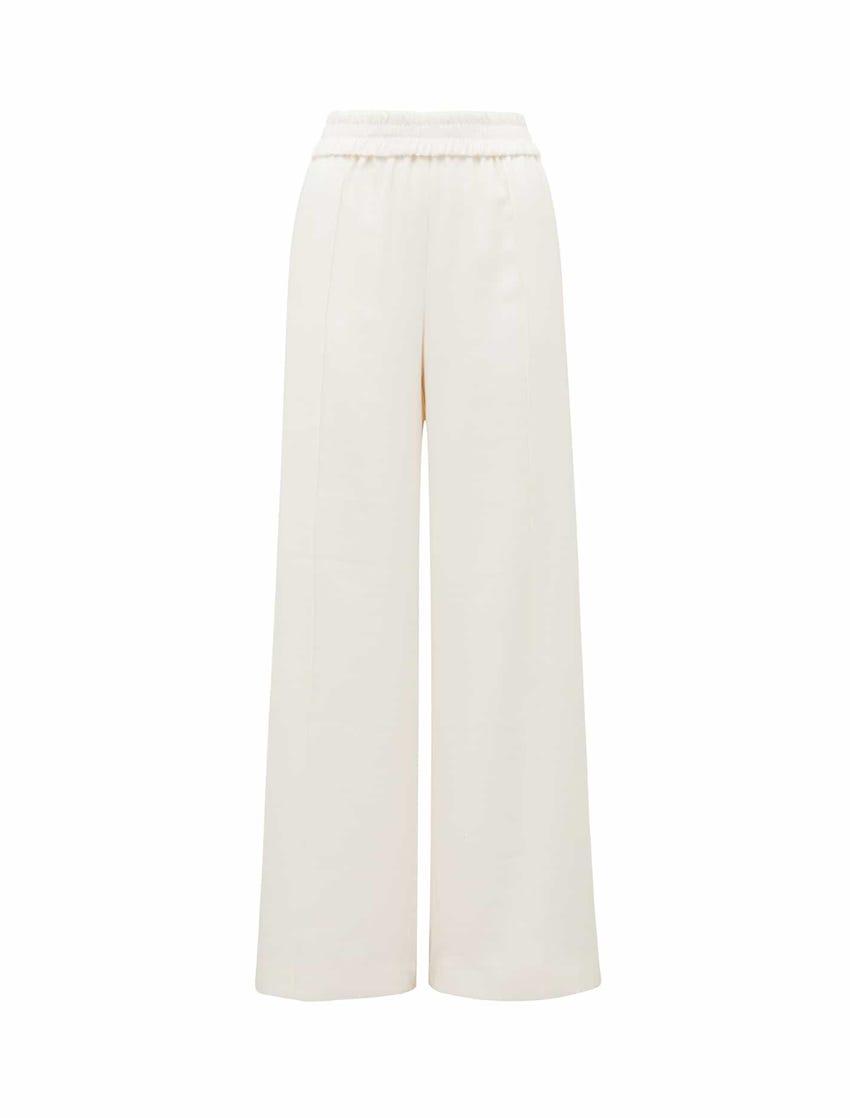 Petra Wide-Leg Pintuck Pants