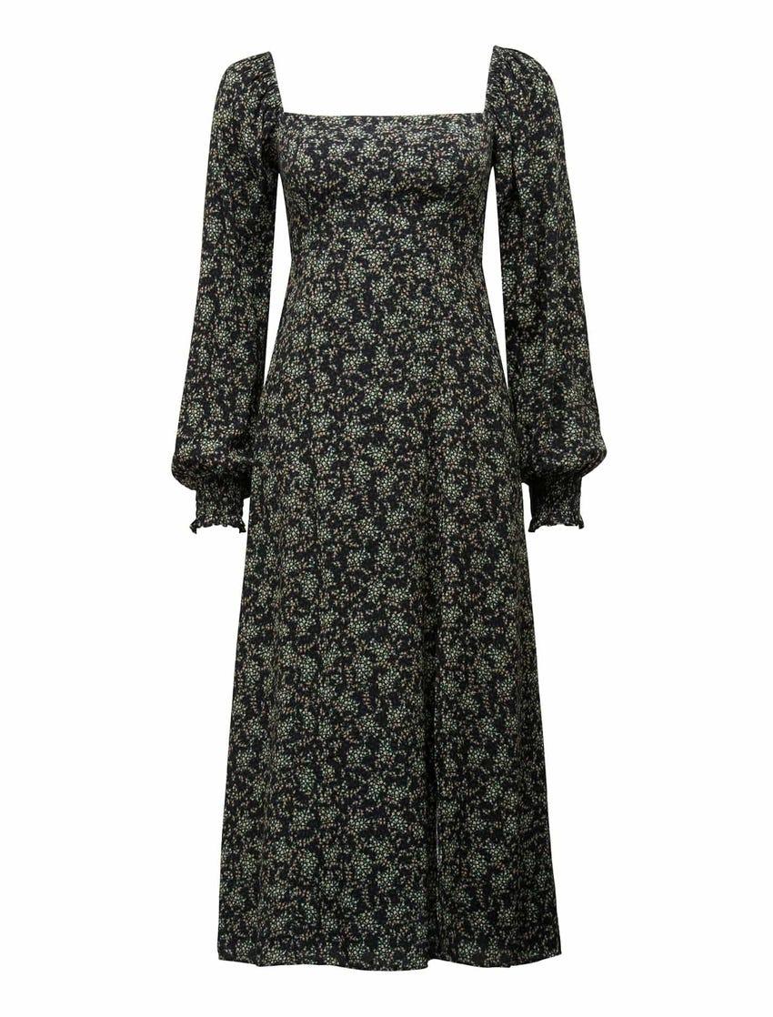 Venice Printed Midi Dress