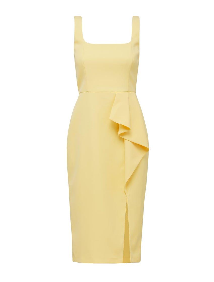 Emily Petite Square Neck Midi Dress