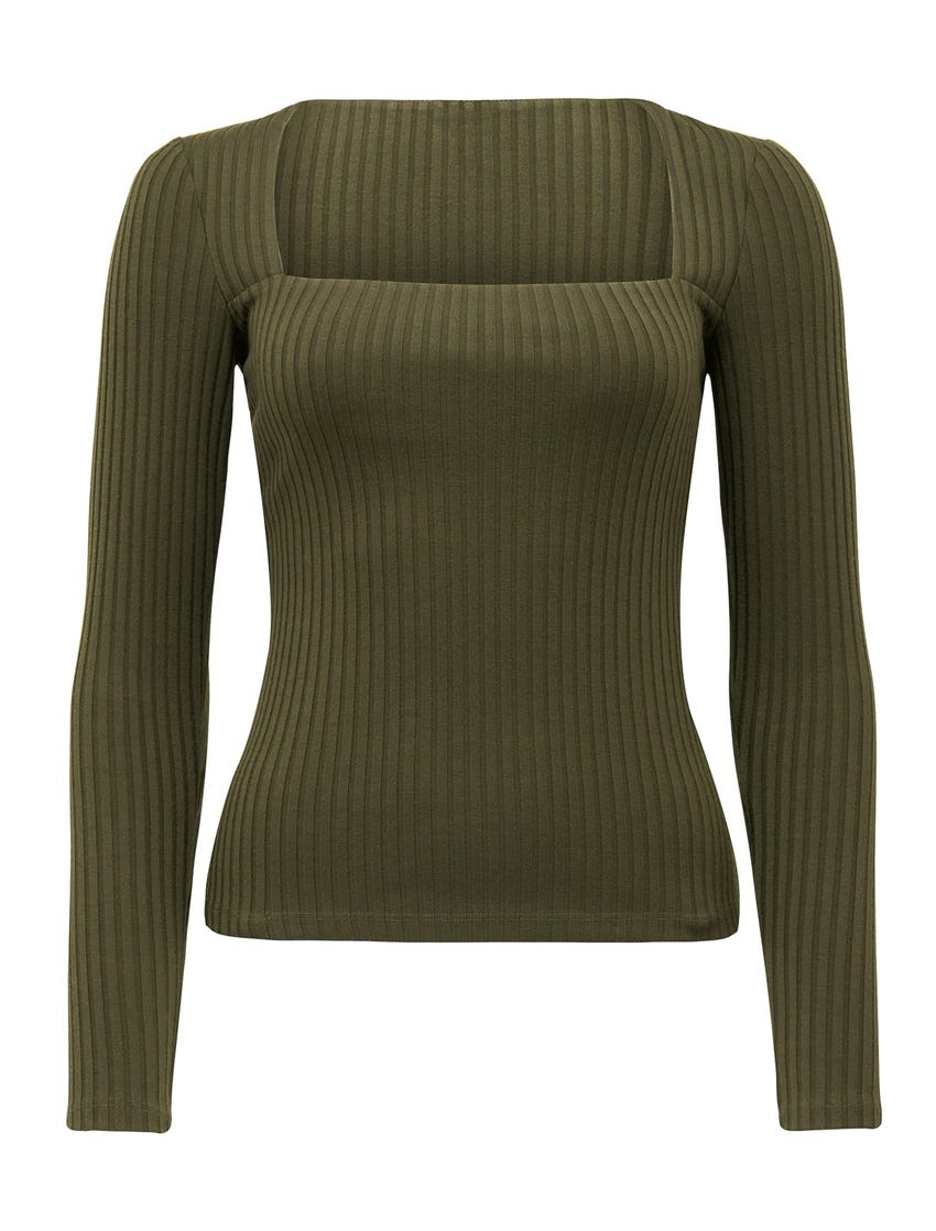 Isobel Square Neck-Long Sleeve Top