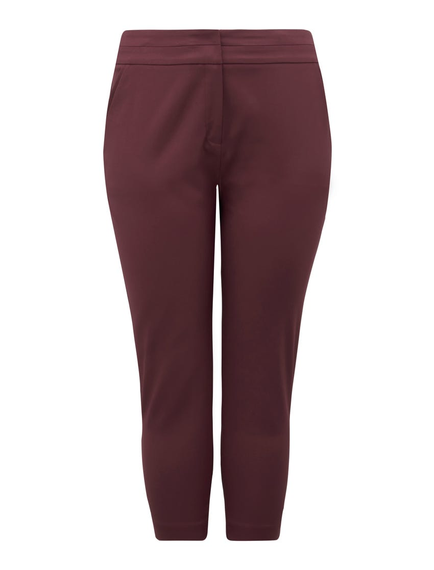 Audrey Curve High-Waisted Cropped Pants
