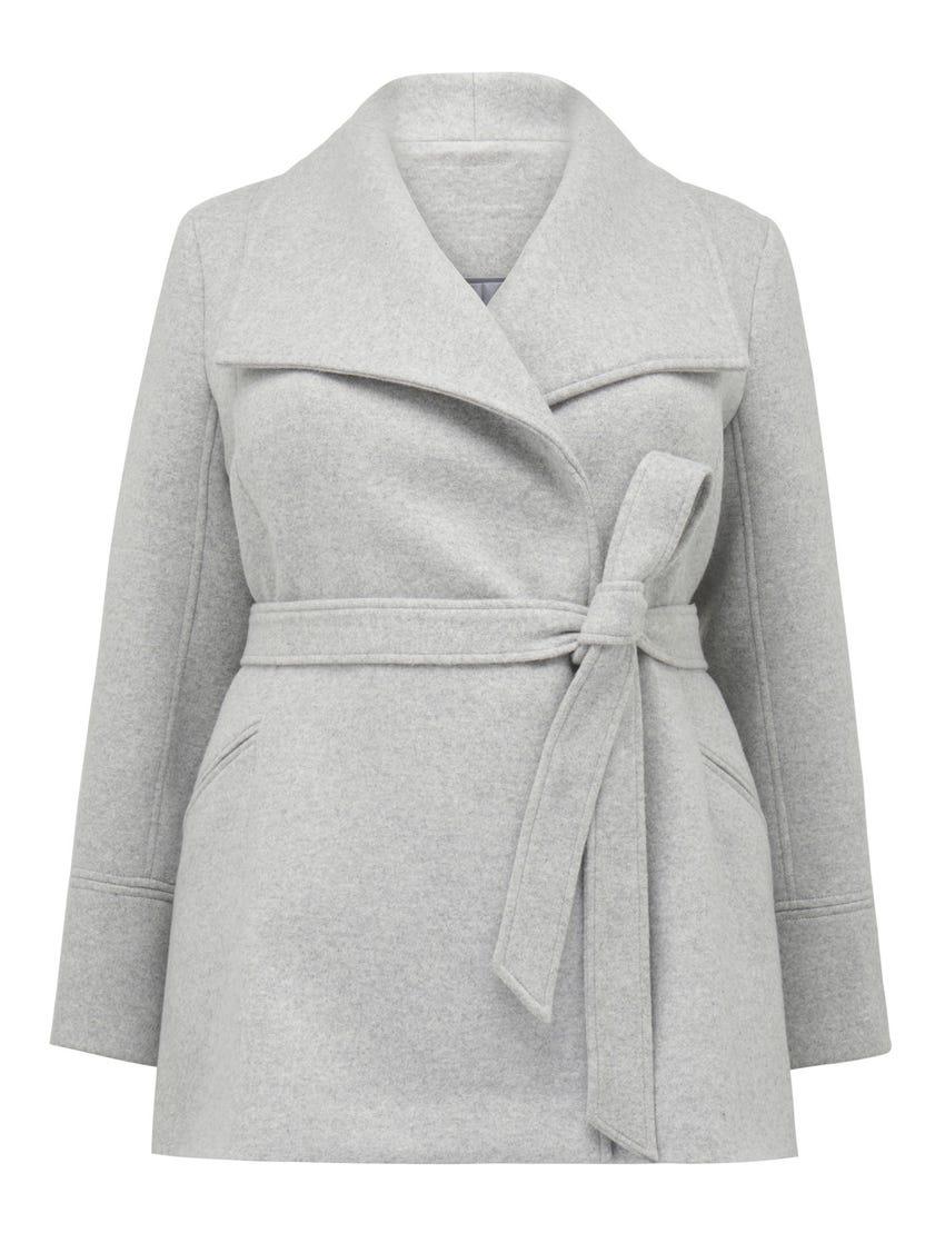 Tamika Curve Wrap Coat