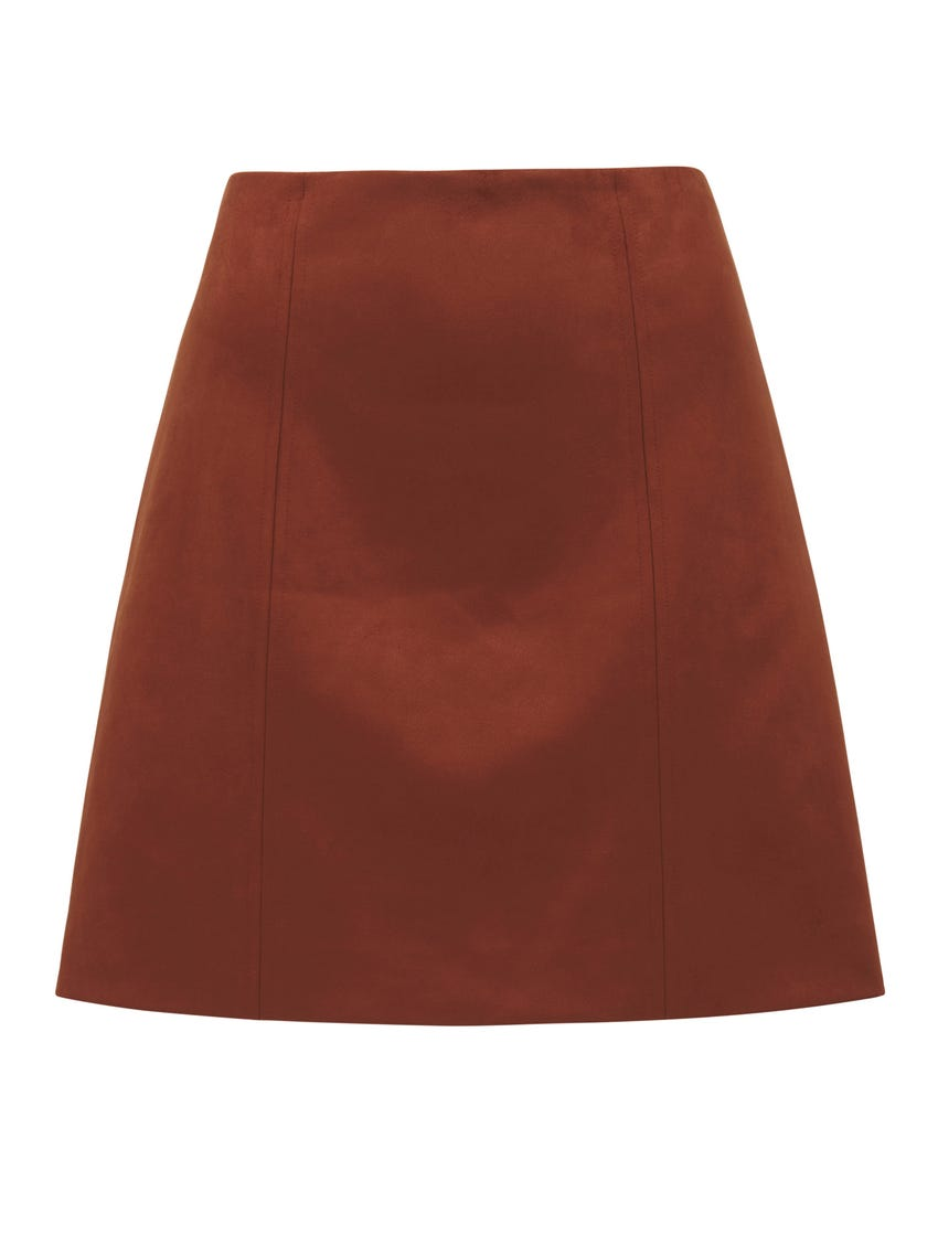 Scarlette Seamed Suedette Mini Skirt
