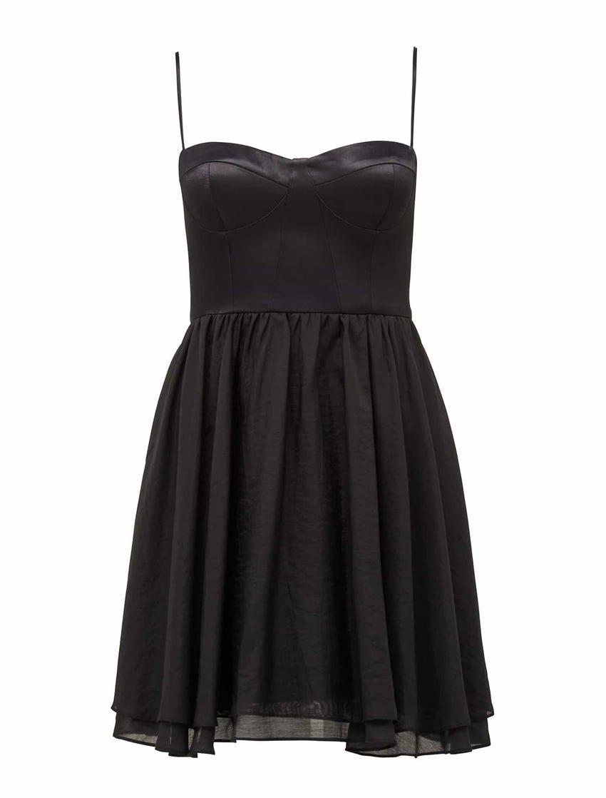 Alexandra Satin Corset Mini Dress