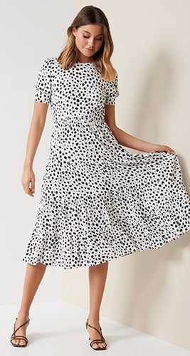 Betty Printed Midi Dress