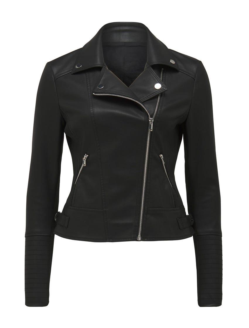 Bobbie Vegan Leather Biker Jacket