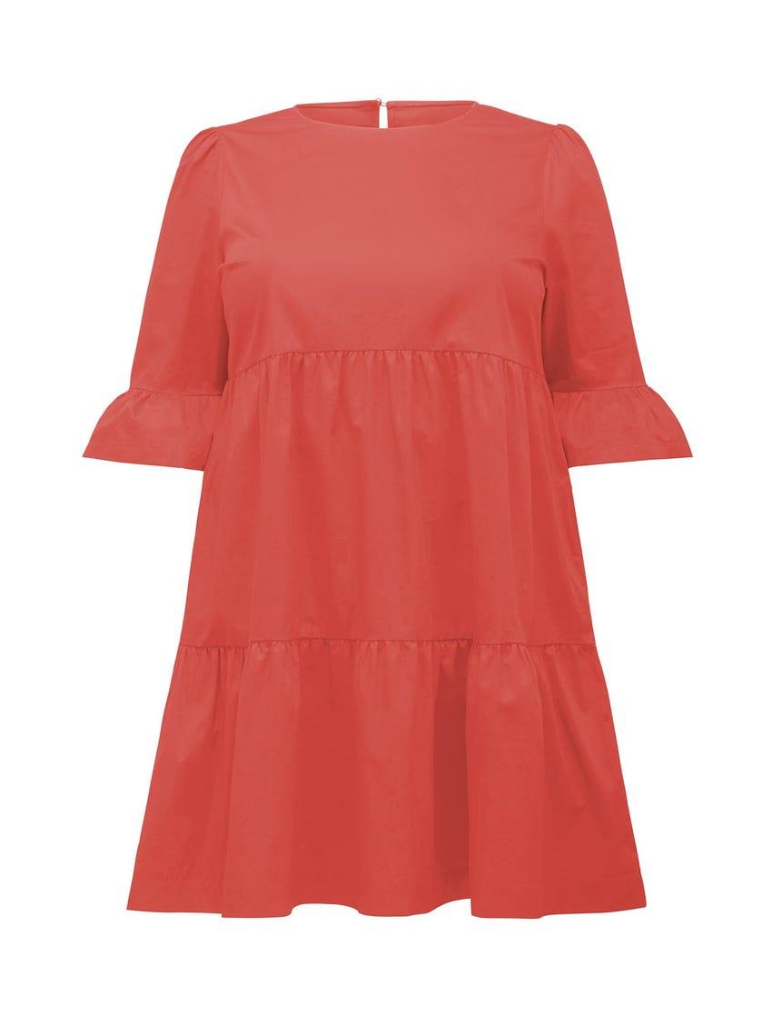 Brydie Curve Cotton Smock Dress
