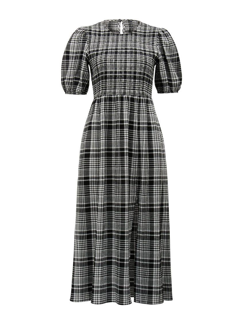 Dakota Check Midi Dress