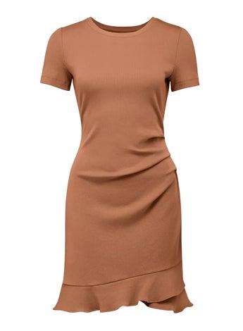 Annie Ribbed Short Sleeve Mini Dress