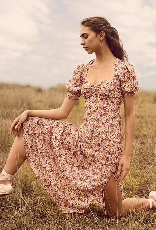 Nadine Short Sleeve Midi Dress