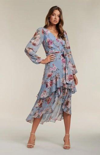Fleur Long Sleeve Wrap Dress