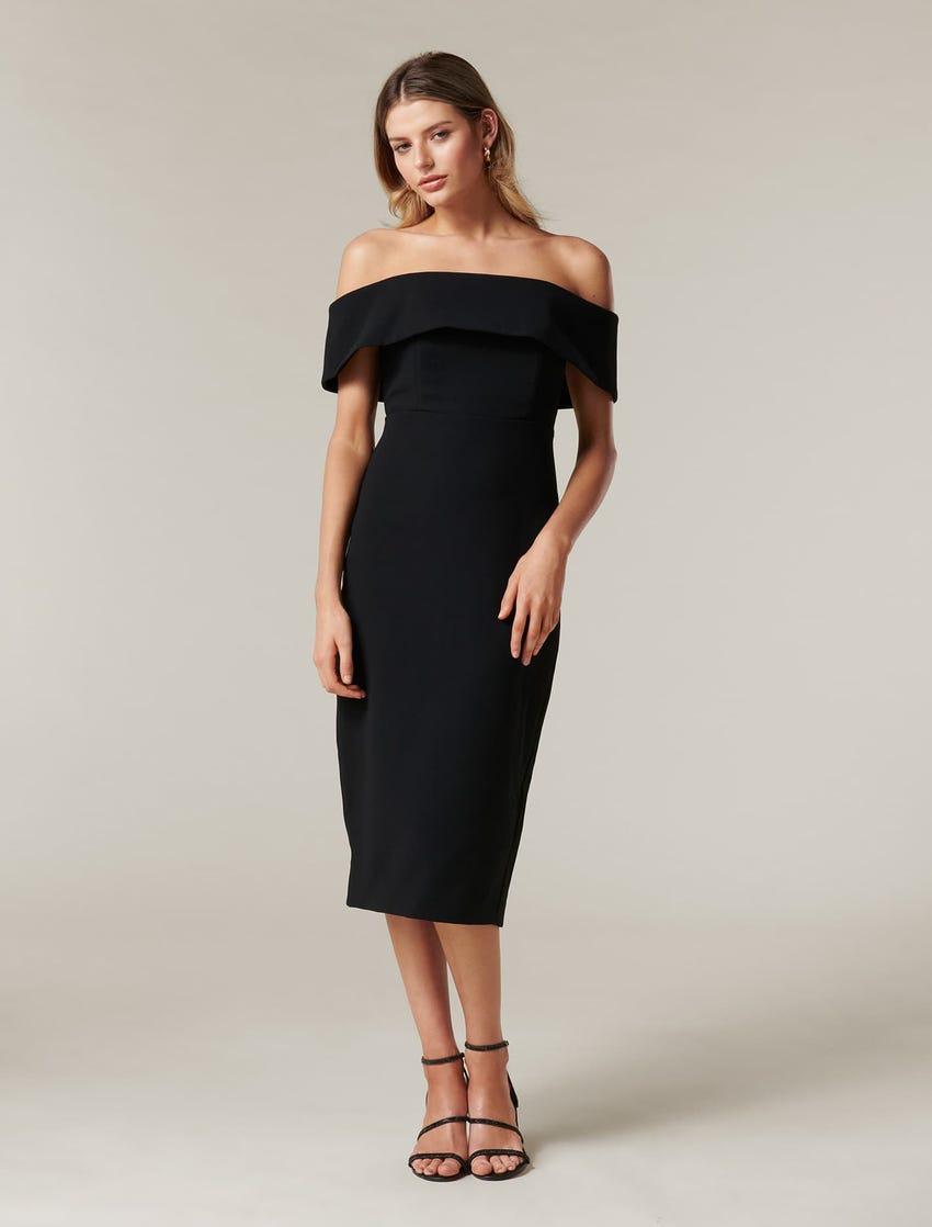 Hermione Off-Shoulder Midi Dress