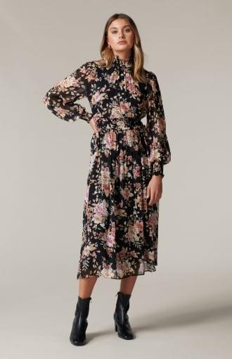 Gwen High-Neck Midi Dress