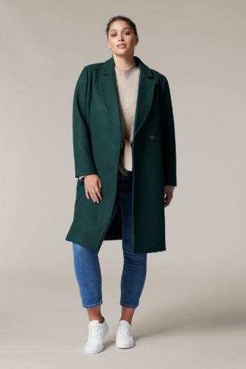 Cindy Curve Wrap Maxi Coat