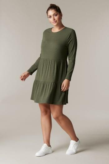Roxy Curve Long-Sleeve Smock Dress