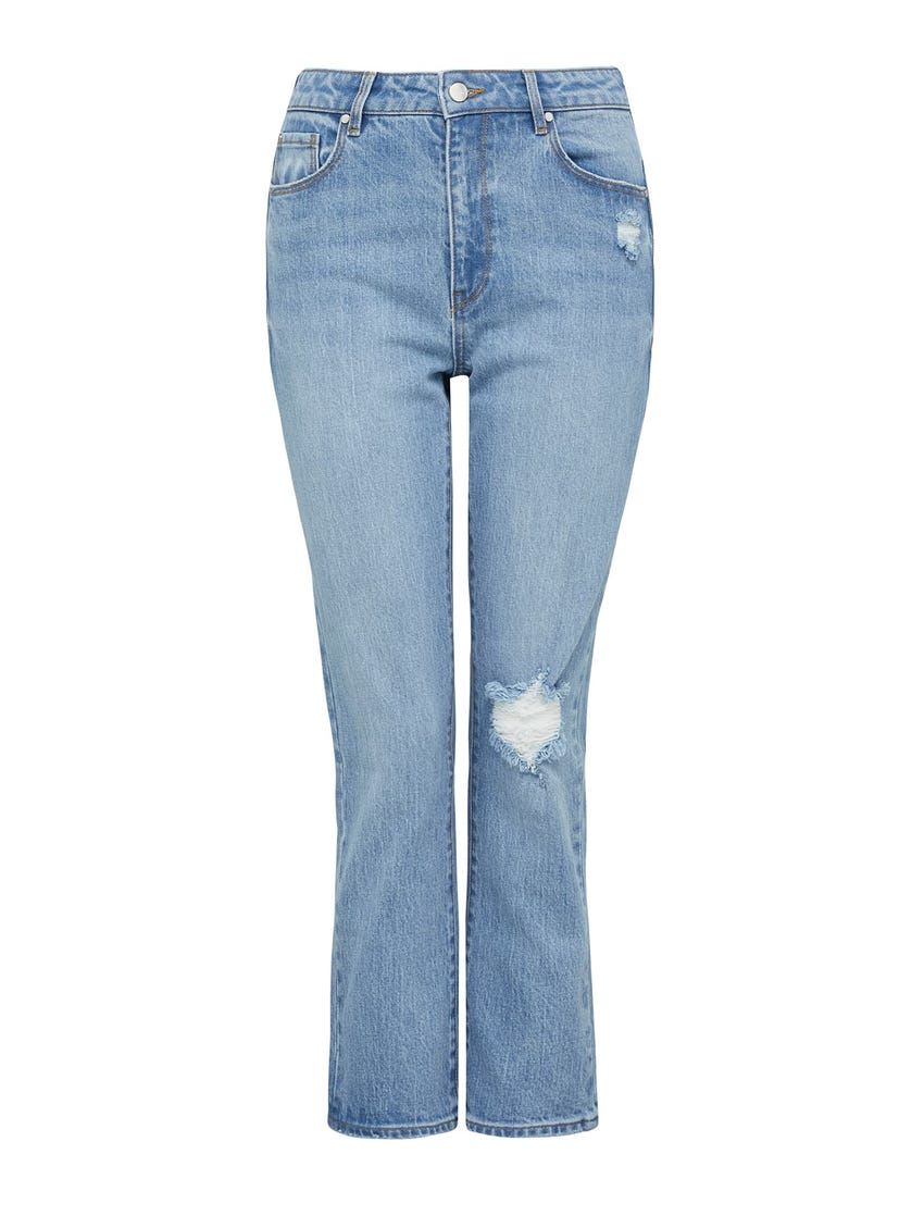 Isabel Mid Rise Straight Crop