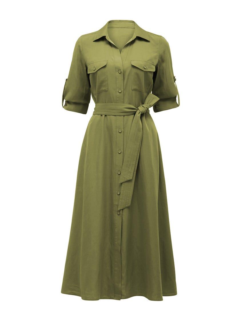Janelle Midi Shirt Dress