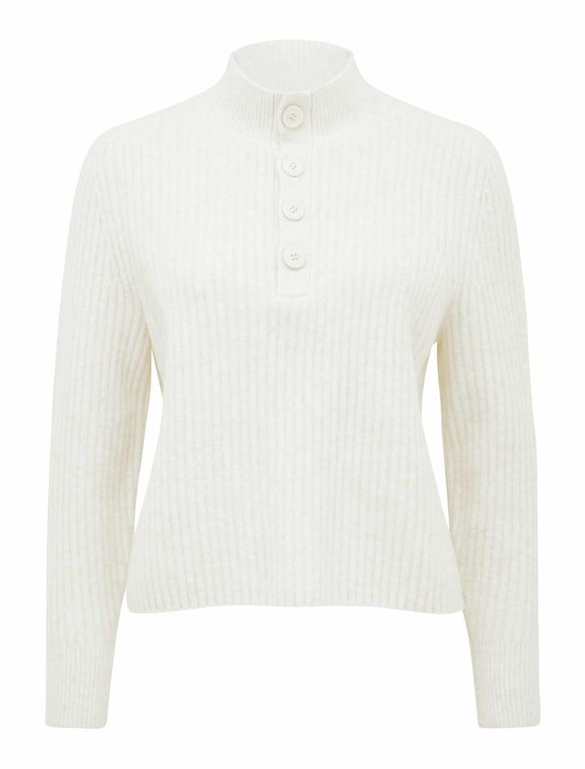 Jodie Button-Front Knit Jumper