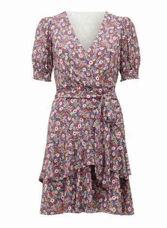 Kayley Puff-Sleeve Skater Dress