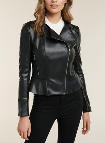 Lisa Peplum Biker Jacket