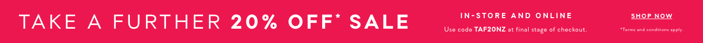 Take a further 20% off* Sale
