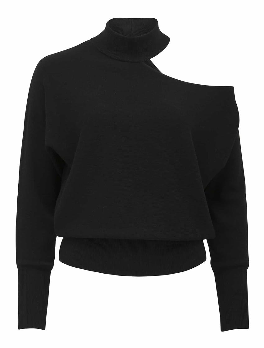 Nelly Cut-Out Shoulder Knit Jumper