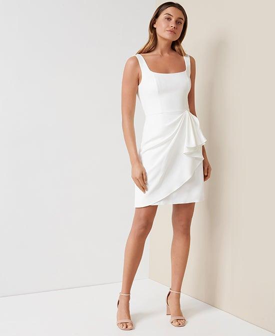 Forever New Party White Mini Dress