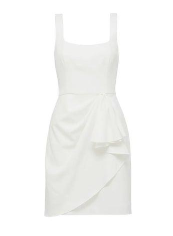 Kaitlyn Square-Neck Drape Mini Dress