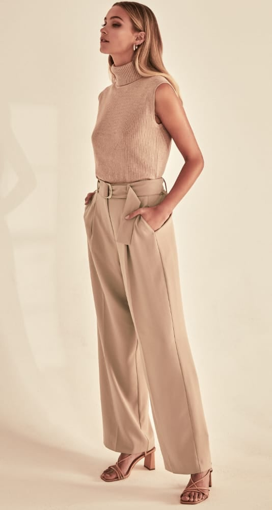 Bianca Wide Leg Belted Pants