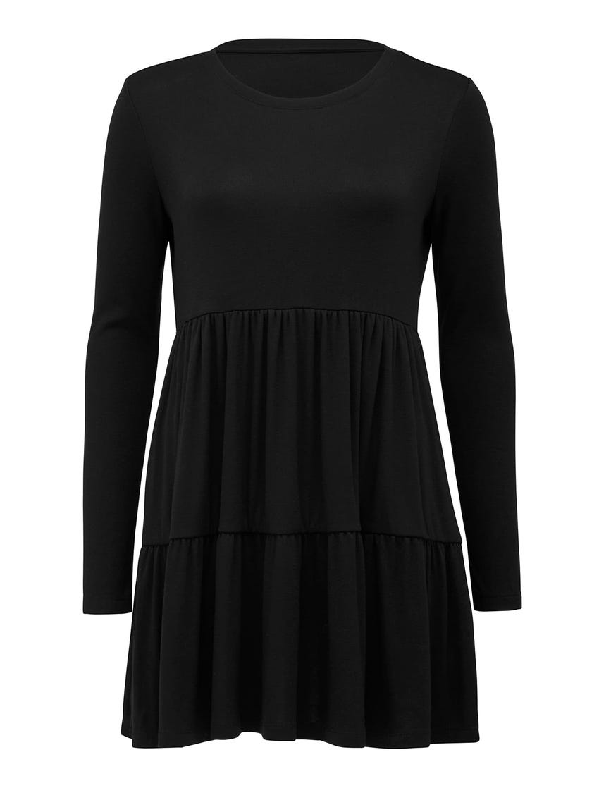 Sallie Long-Sleeve Smock Dress