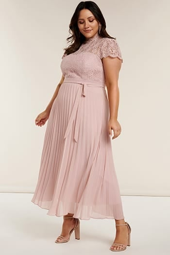 Josephine Curve Pleated Maxi Dress