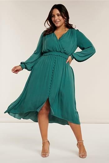 Eva Curve Shirred Waist Dress