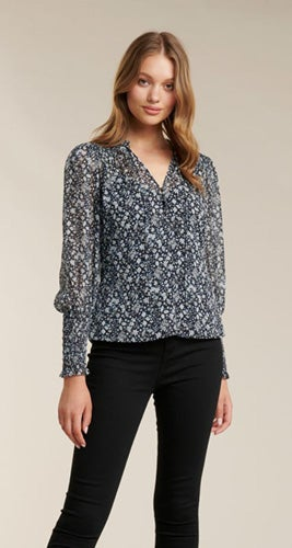 Fiona Shirred Sleeve Blouse