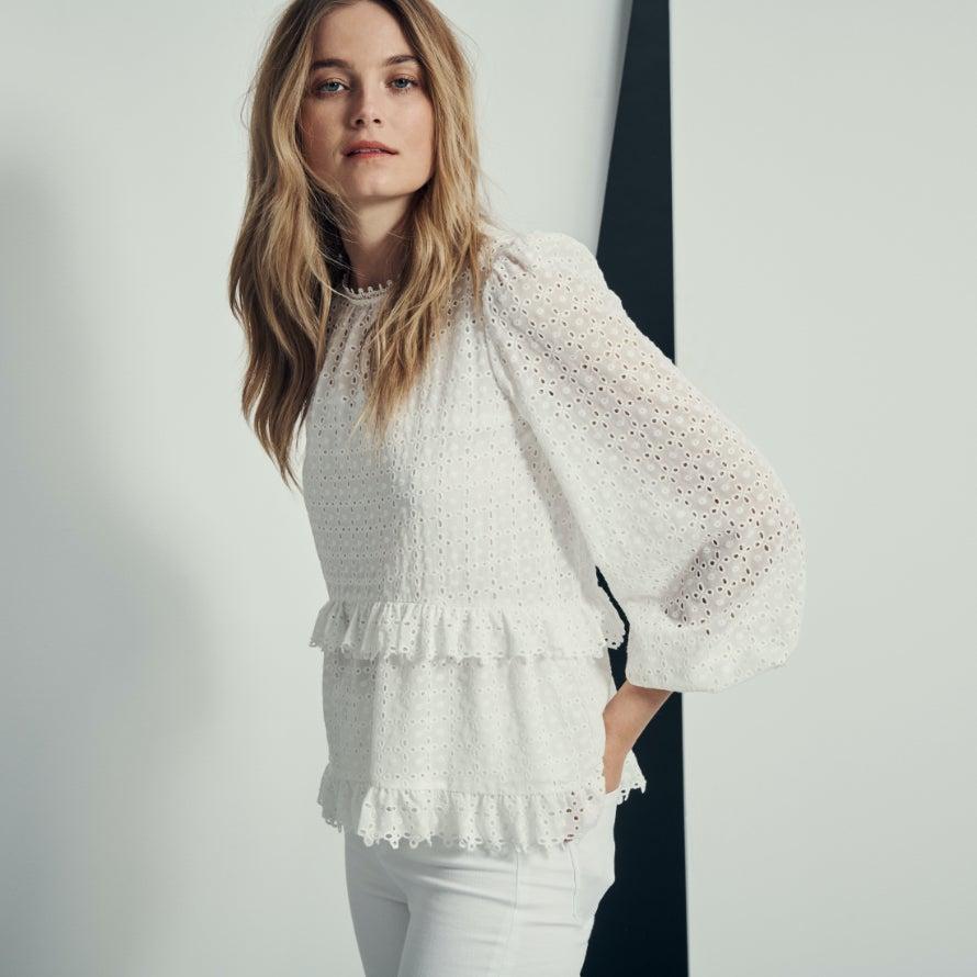 Forever New White Blouse