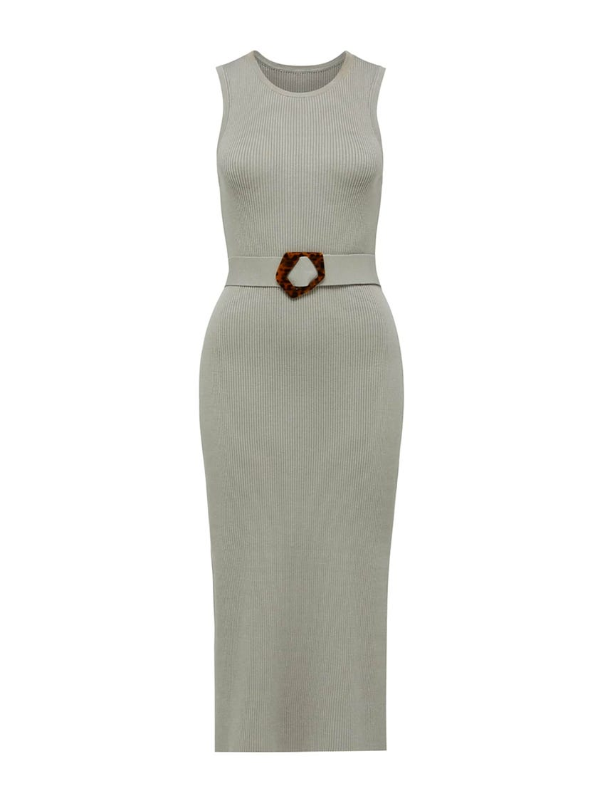 Imogen Sleeveless Midi Knit Dress