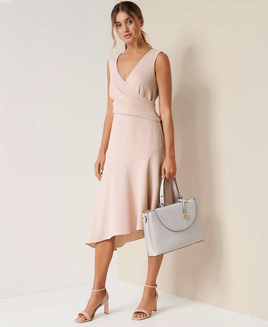 Forever New Draped Work Dress