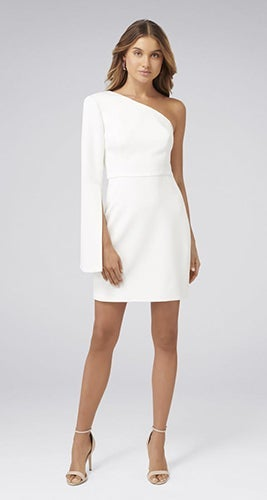 Sophia One-Sleeve Mini Dress