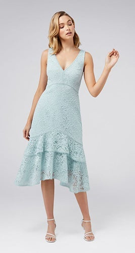 Florentine Lace-Tiered Dress