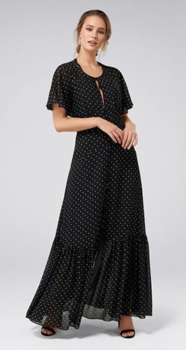 Ivy Cape Maxi Dress